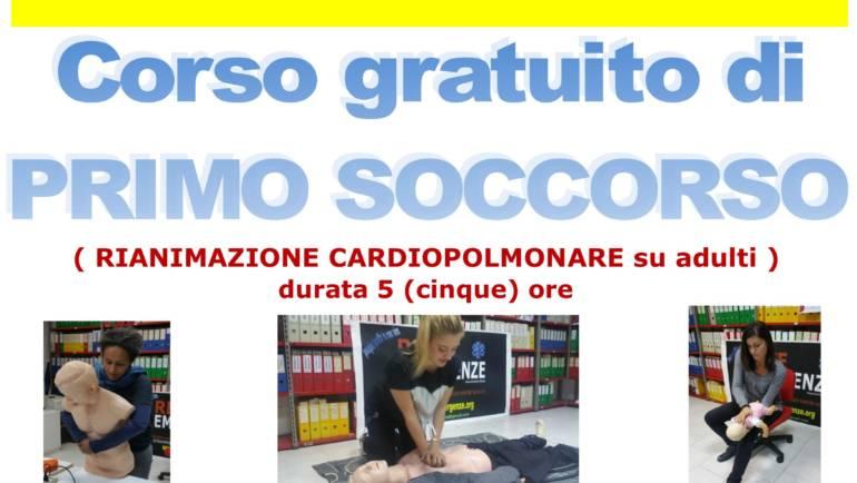 SABATO 13 APRILE 2019 a Roma, Corso GRATUITO di Primo Soccorso,  (Rianimazione cardiopolmonare su adulti)