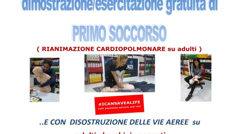 DOMENICA 30 GIUGNO 2019 a Roma, Dimostrazione ed esercitazione GRATUITA di Primo Soccorso, (Rianimazione cardiopolmonare su adulti)