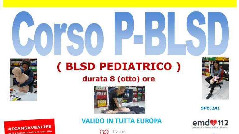 DOMENICA 21 LUGLIO 2019 a Roma  Corso di PBLS-D (Paediatric Basic Life Support & Defibrillation) Certificato I.R.C. e Accreditato ARES 118