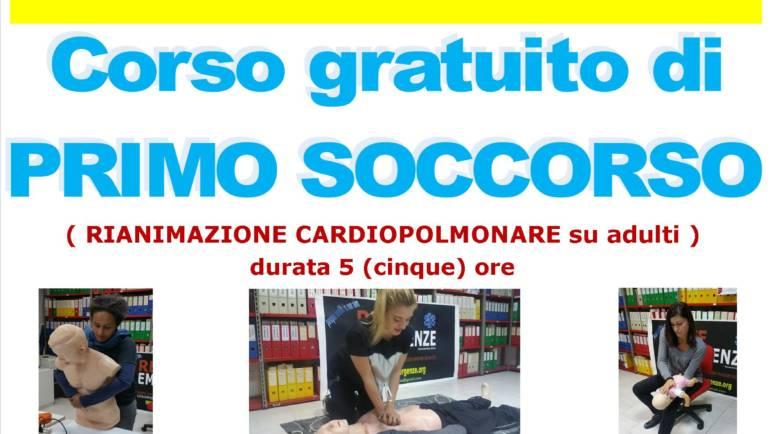 SABATO 24 AGOSTO 2019 a Roma Corso GRATUITO di Primo Soccorso,  (Rianimazione cardiopolmonare su adulti)