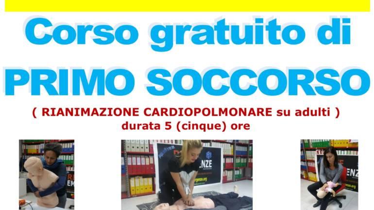SABATO 2 NOVEMBRE 2019 a Roma  Corso GRATUITO di Primo Soccorso,  (Rianimazione cardiopolmonare su adulti)