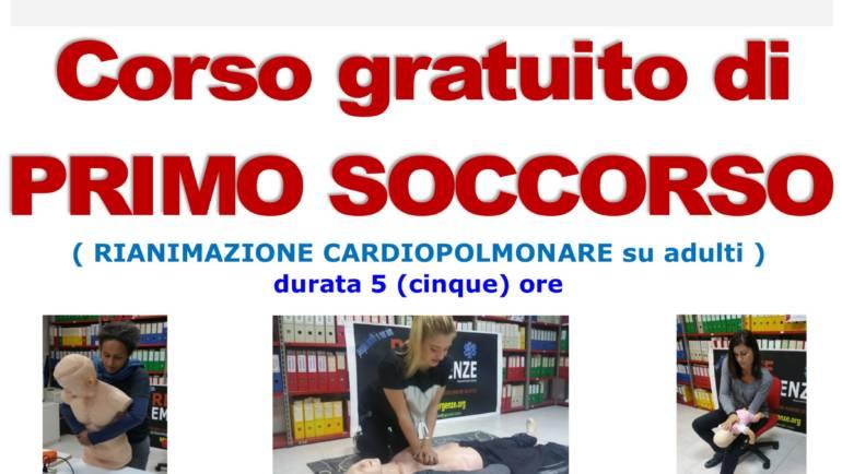 SABATO 28 DICEMBRE 2019 a Roma Corso GRATUITO di Primo Soccorso,  (Rianimazione cardiopolmonare su adulti)