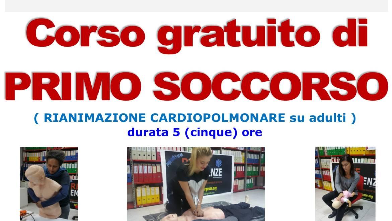 SABATO 30 NOVEMBRE 2019 a Roma  Corso GRATUITO di Primo Soccorso (Rianimazione cardiopolmonare su adulti)