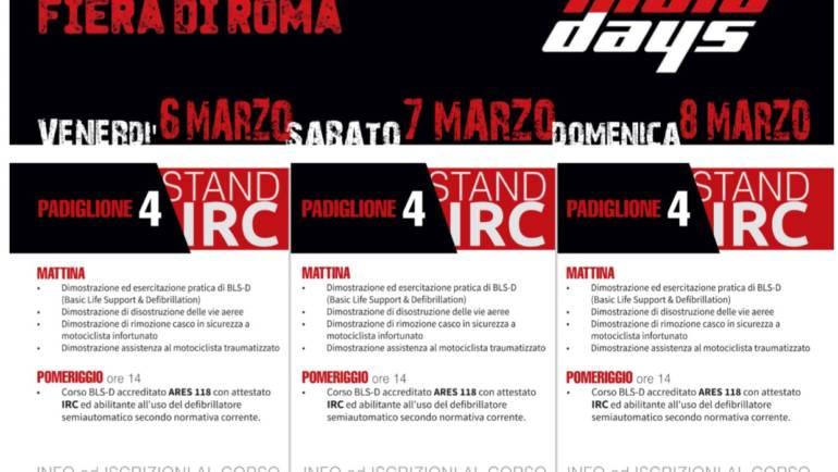 "CORSO BLS-D al ""ROMA MOTO DAYS"" 2020, SABATO 7 MARZO a Roma"