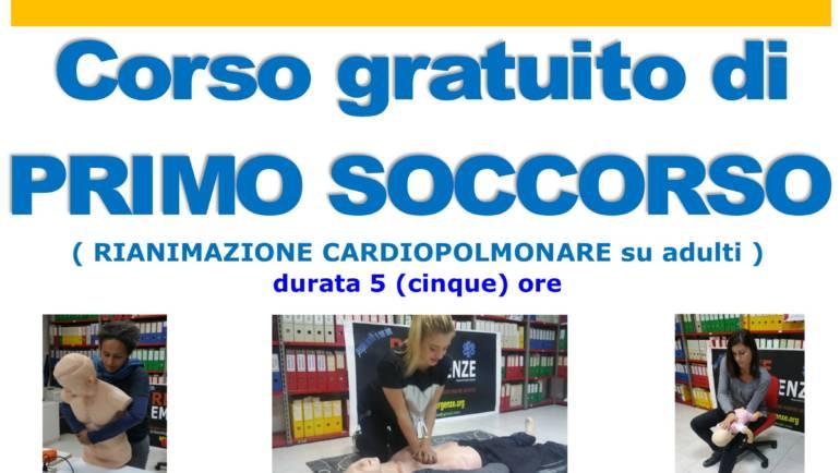 DOMENICA 16 FEBBRAIO 2020 a Roma Corso GRATUITO di Primo Soccorso,  (Rianimazione cardiopolmonare su adulti)