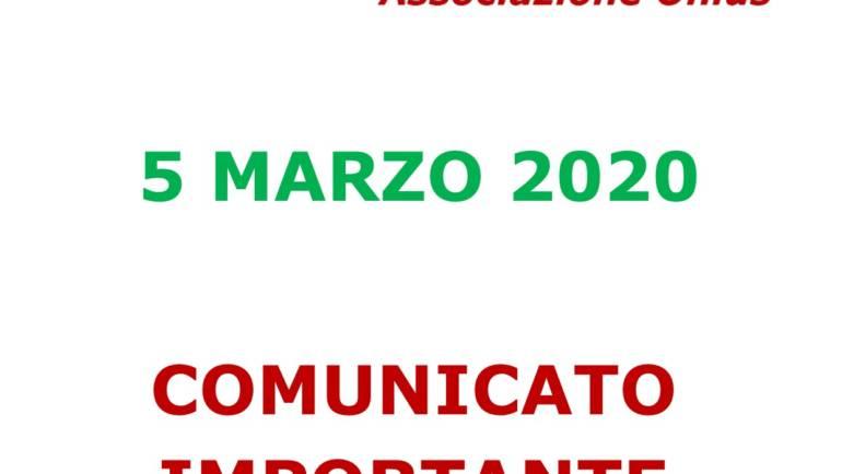 COMUNICATO IMPORTANTE