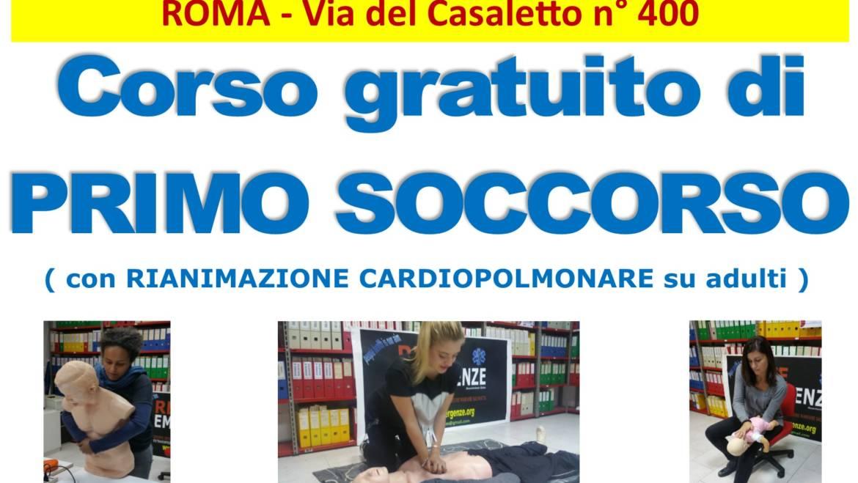 SABATO 8 e DOMENICA 9 AGOSTO 2020 a Roma Corso GRATUITO di Primo Soccorso,  (Rianimazione cardiopolmonare su adulti)
