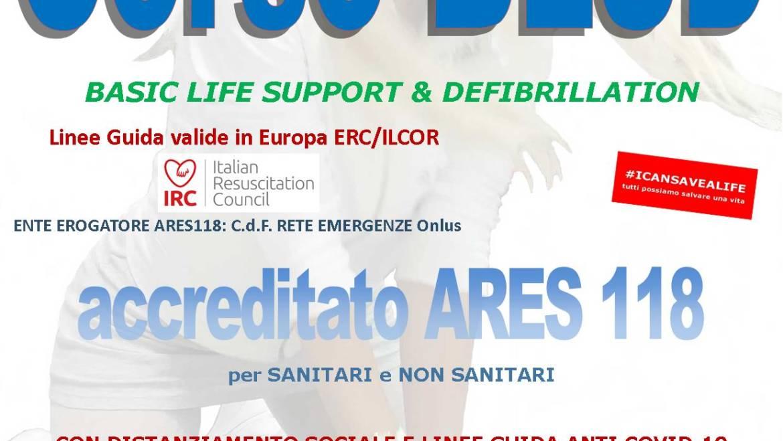 SABATO 26 SETTEMBRE 2020 ore 9,00 – 14,00 a ROMA – Via del Casaletto n° 400 CORSO BLS-D (BASIC LIFE SUPPORT & DEFIBRILLATION)