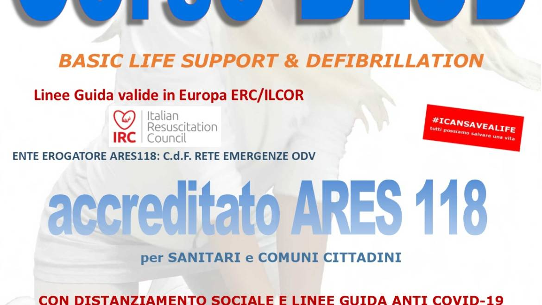 DOMENICA 29 NOVEMBRE 2020 a Roma – Corso di BLS-D (Basic Life Support & Defibrillation) Certificato I.R.C. e Accreditato ARES 118, con nuove Linee Guida anti COVID-19