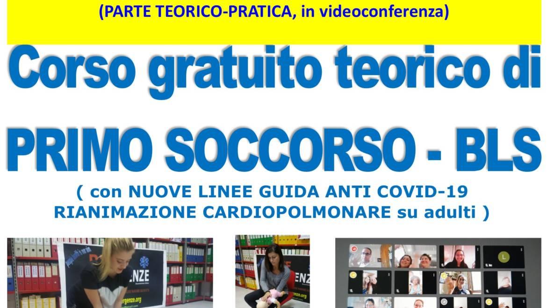 SABATO 14 NOVEMBRE 2020 a Roma, Corso GRATUITO di Primo Soccorso con nuove Linee Guida anti COVID-19
