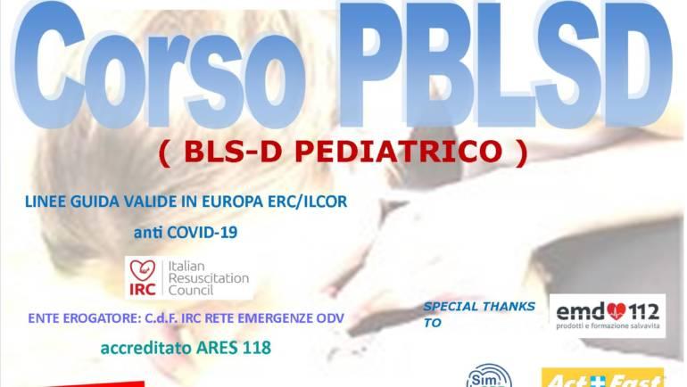 DOMENICA 20 DICEMBRE 2020 a Roma, Corso PBLS-D (Pediatric Basic Life Support & Defibrillation) Certificato I.R.C. e Accreditato ARES 118, con Linee Guida anti Covid-19