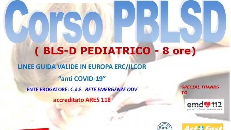 """DOMENICA 28 MARZO 2021 a Roma Corso PBLS-D (Pediatric Basic Life Support & Defibrillation) Certificato I.R.C. e Accreditato ARES 118, con nuove Linee Guida """"anti Covid-19"""""""