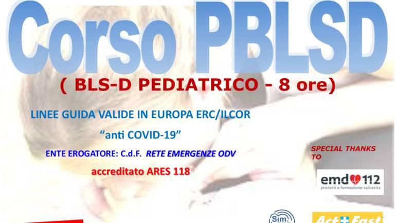 """DOMENICA 18 APRILE 2021 a Roma Corso PBLS-D (Pediatric Basic Life Support & Defibrillation) Certificato I.R.C. e Accreditato ARES 118, con nuove Linee Guida """"anti Covid-19"""""""