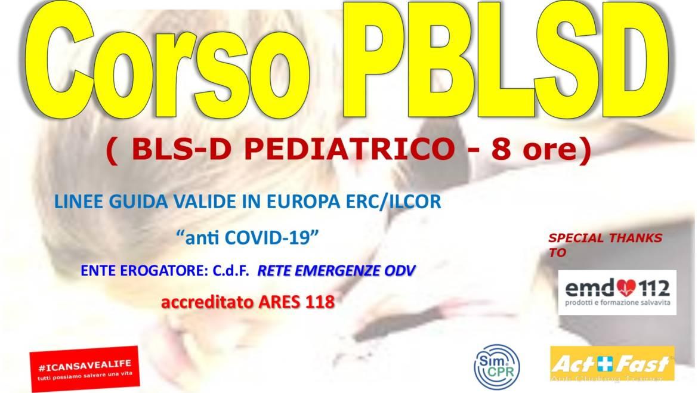 """DOMENICA 25 LUGLIO 2021 a Roma Corso PBLS-D (Pediatric Basic Life Support & Defibrillation) Certificato I.R.C. e Accreditato ARES 118, con nuove Linee Guida """"anti Covid-19"""""""
