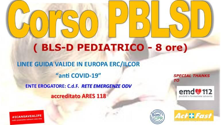 """DOMENICA 29 AGOSTO 2021 a Roma: Corso PBLS-D (Pediatric Basic Life Support & Defibrillation) Certificato I.R.C. e Accreditato ARES 118, con Linee Guida ERC/ILCOR 2021 e """"anti Covid-19"""""""