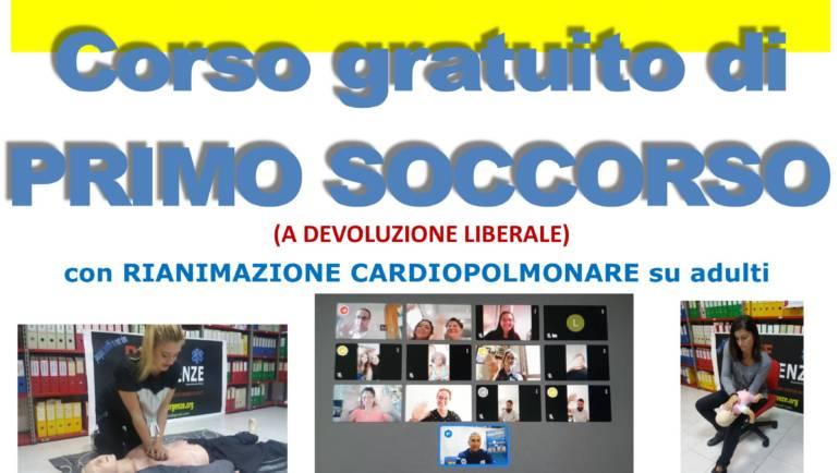 """Da VENERDI' 8 OTTOBRE (ONLINE) a DOMENICA 10 OTTOBRE 2021 (IN PRESENZA) a Roma, SEDE OPERATIVA, Via del Casaletto 400 – 00151 Corso gratuito (A DEVOLUZIONE LIBERALE) di Primo Soccorso – BLS, con nuove Linee Guida """"anti COVID-19"""""""